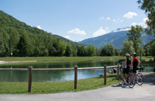 Cycle path from Bourg St Maurice to Aime
