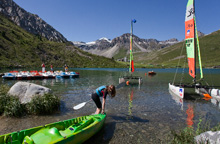 Watersports in Tignes